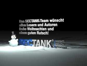 Ihre Redaktion SecTank wünscht Ihnen ein Frohes Fest