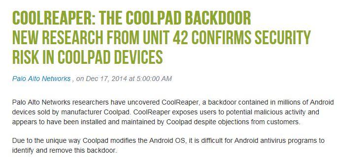 CoolReaper, entdeckt von Palo Alto Networks