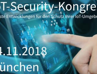 Rechtskonformer Schutz für Big Data: IoT-Security-Kongress in München