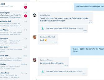 """Brabbler veröffentlicht Windows-Messenger von """"ginlo @work"""""""