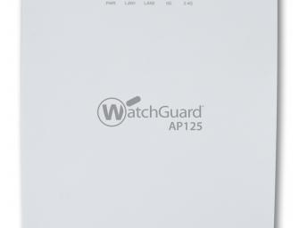 Neuer Access Point WatchGuard AP125: Hohes Sicherheitslevel selbst im kleinsten WLAN
